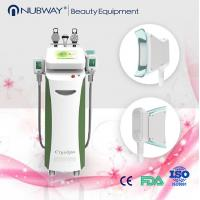 Big cryo handpiece two handles work together vertical fat freezing cryolipolysis machine