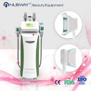 China Big cryo handpiece two handles work together vertical fat freezing cryolipolysis machine on sale