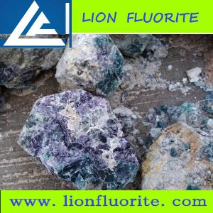 China Colorful  metallurgical grade Fluorite (75-82% CaF2) metallurgical/ceramics/chemical industries/optical, lapidary etc on sale