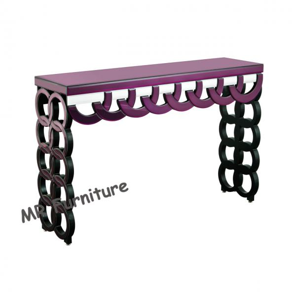 Fabulous Purple Mirrored Hall Table 100 35 78Cm Glass Mirror Theyellowbook Wood Chair Design Ideas Theyellowbookinfo