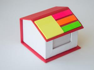 China House shape box with memo and sticky note on sale