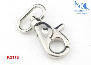 China Purse Metal Swivel Snap Hook , High Polished Swivel Clips For Handbags on sale