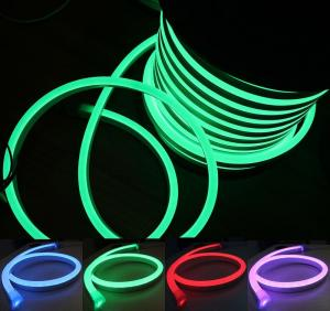 China Signage Color Changing Led Neon Rope Light , Smd 5050 RGB Neon Flex Led Light on sale