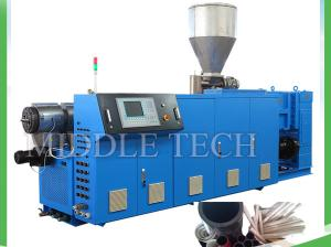 China Stable Twin Screw Extruder Machine 300 KG / HR Capacity With Degassing Zone on sale