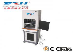China Coca Cola Bottle / Wine Bottle Laser Engraving Machine , Desktop Laser Metal Engraver on sale