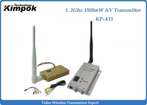 China Professional Security Analog Video Transmitter With 1500mW , 2KM Transmit Distance on sale