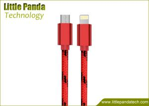 China 2016 Hot Sales Nylon Fabric USB Cable for iPhone 5/6 8-Pin Data Cable on sale