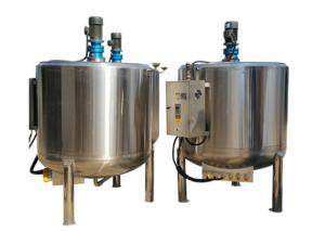 China Double Jacketed Stainless Steel Storage Tank , Stainless Steel Mixing Tank on sale