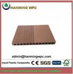 Easy installing outdoor China wood plastic composite decking/wood polymer composite decking d