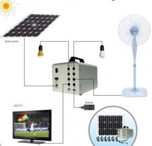 China off grid solar home power system , with DC LED bulbs, TV  /satellite receiver , 60W/100W solar power on sale