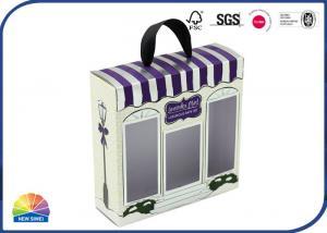 China Window Diecut Ribbon Decorated Folding Carton Box on sale