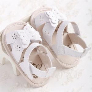 China high quality infant Sandals Butterfly soft-sole Newborn Toddler baby shoes for Boy and Girl on sale