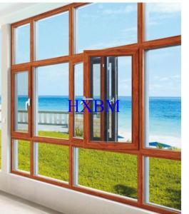China European Standard Wood Aluminium Windows 70mm Frame 15mm Thick Nature Wood on sale