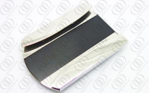 China Custom Money Clip and Credit Card Holder Black and Silver Tones on sale
