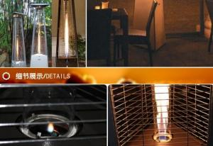 China CE Approval Glass Tube Gas Heater / Portable Outside Heaters For Home Dust Proof on sale
