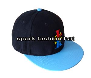 Quality High quality brushed cotton snapback hat with PU leather visor for sale