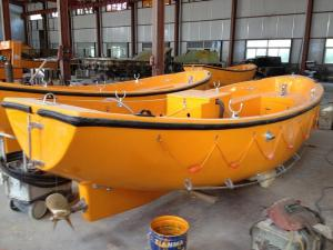 China Factory Price 30 persons Open Life Boat with outboard engine Solas approved on sale