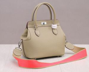China high quality 26cm nude color women designer doctor bag small calfskin leather tote bags M-G01-8 on sale