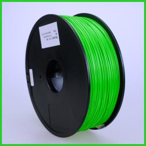 China Top Grade 1.26kg /Piece 1.75mm 3D printer PLA filaments, GREEN Poly Lactic Acid material on sale