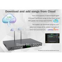 China Android home ktv jukebox karaoke player with songs cloud ,support video with H.265 on sale