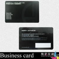 Black Spot UV Gloss PVC Business Cards Foil Stamping / Corporate ID Card