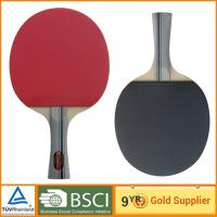 Professional 7 ply Table Tennis Bat with short handle table paddle racket