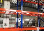 Narrow Aisle Warehouse Pallet Racking Of Blue Colour Columns With Customized Sizes