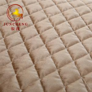 China 2018 new design embroidery quilted knitted velvet fabric for home textile on sale