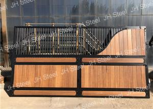 China Portable Golden Luxury Horse Stalls Stable Galvanized Material Pipe Use on sale