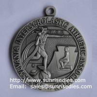 Ancient greek relievo athletic medals, antique pewter metal athletics medal wholesale
