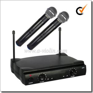 China Professional FM UHF Fixed Dual Channel Wireless Microphone (AL-SE2019) on sale