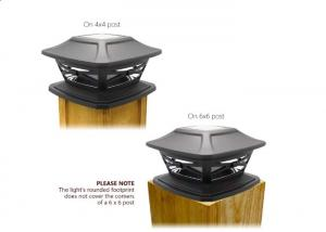 China IP44 Square Solar Post Cap Lights Outdoor White Lantern For Garden Or Fence on sale