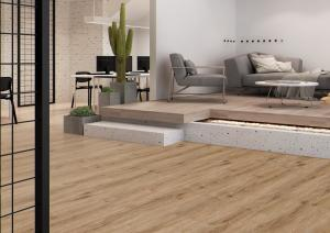China Slip Resistance LVT Plank Flooring Sound Absorption With Good Foot Feels on sale