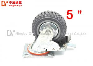 China Non Skid Flat Industrial Caster Wheels 5 Inch For Workbench Without Brake on sale