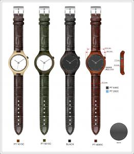 China Women Watch With Wooden Case Wooden Watch Leather Strap on sale