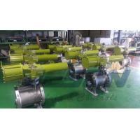 China OEM Scotch Yoke Pneumatic Actuator Spring Return Type Aluminium Alloy Material on sale