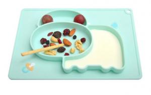 China Silicone Mini Child Feeding Baby Mat Toddlers Kids Plate Fits Most Highchair Trays on sale
