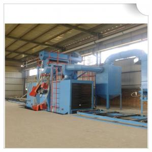 China H beam shot blasting machine / wheel blasting machine for cleaning structural steel on sale