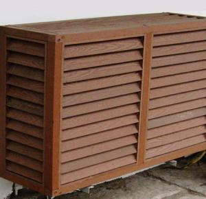 China Waterproof Outdoor Embossed WPC Wall Cladding for Air Condition Cover on sale