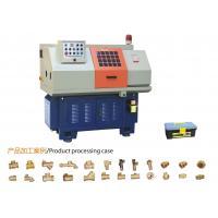Semi Automatic Lathe Turning Machine / Spindle Horizontal CNC Metal Machine Metal Profile Machining