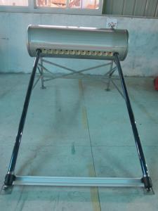 China El acuerdo del tubo de calor de 15 tubos de vacío presurizó el calentador de agua solar 150L para el tejado plano on sale