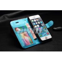 Genuine leather flip case with card slots for iPhone 5 5s flip cases