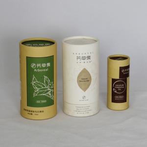 China Tubo reciclable agradable del papel del té que se encrespa que empaqueta CMYK Pantone FDA supplier
