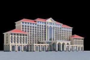 China Real Estate Sculpture 3D Model Miniature Architectural Model Maker Hotel Buildings on sale