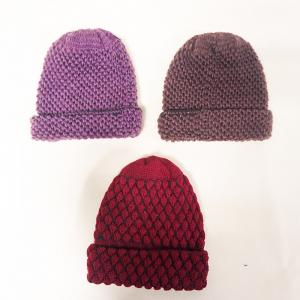 China High Quality Wholesale Cheap Custom Knitted Beanies Super warm Knitting Twist Hat snow cap for ladies on sale