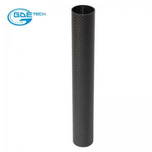 China 100% composite manufacturer epoxy roll wrapped 3k carbon fiber tube , graphitic carbon tub on sale