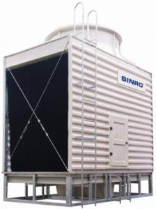 China Air Conditioning Low Noise Cross Flow Square Cooling Water Tower on sale