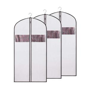 China Men Zippered Non Woven Fabric CMYK 9gsm 60x90cm Suit Holder on sale