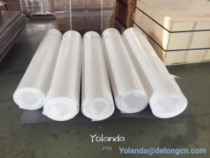 China PTFE skived sheet roll sheet for seal gasket in 1500mm, 2000mm white plastic sheet on sale