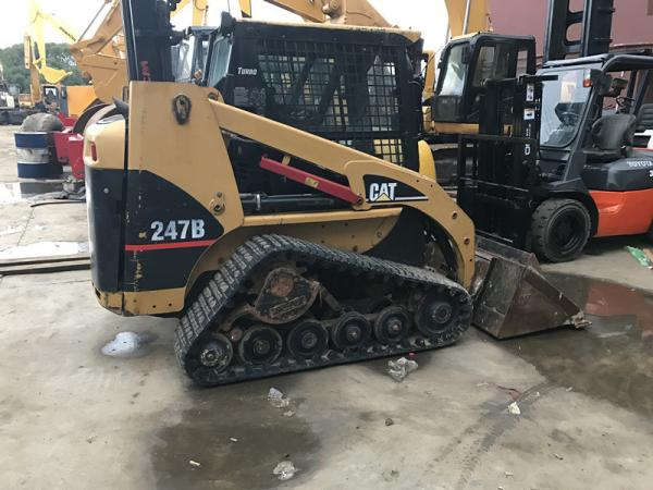 Used Rubber Track Caterpillar Skid Steer Loader 247b With